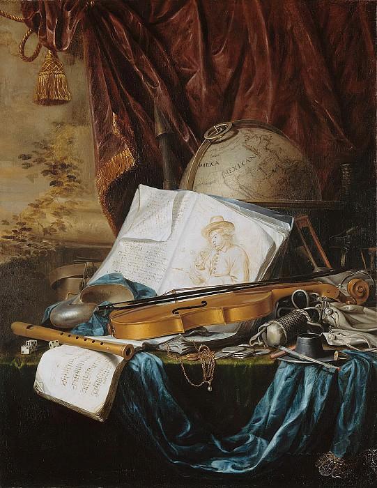 Pieter de Ring (1615-1660) - Still Life with Musical Instruments. Part 4
