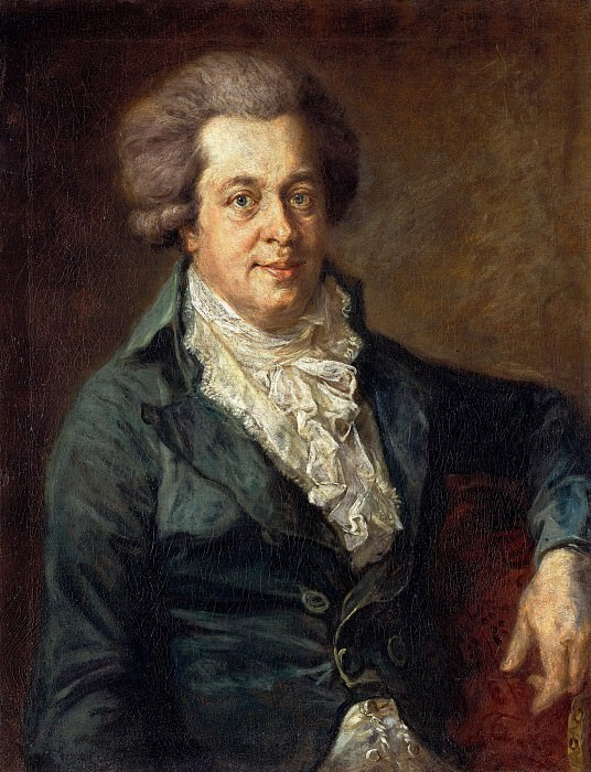 Josef Georg Edlinger (1741-1819) - Portrait of Wolfgang Amadeus Mozart. Part 4