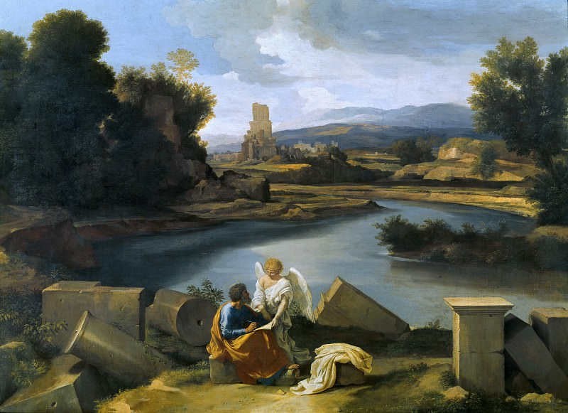 Nicolas Poussin (1594-1665) - Landscape with St Matthew and the Angel. Part 4