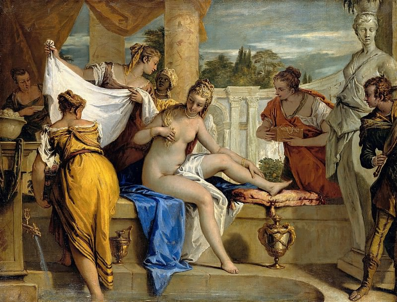 Sebastiano Ricci (1659-1734) - Bathsheba in her bath. Part 4