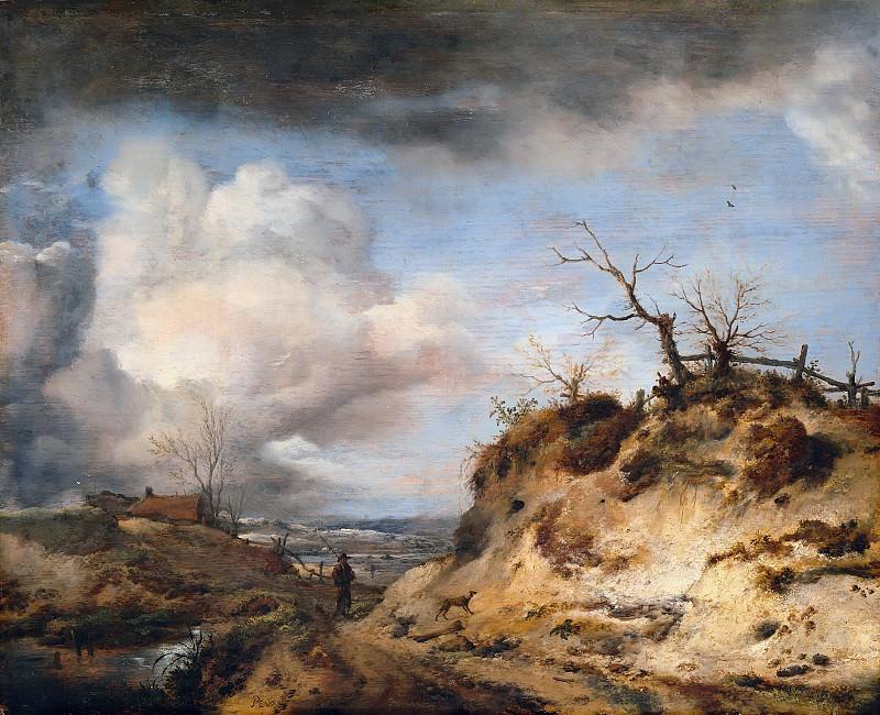 Philips Wouwerman (1619-1668) - The dunes away. Part 4