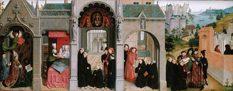 Simon Marmion (c.1435-1489) - Scenes from the Life of St Bertin. Part 4