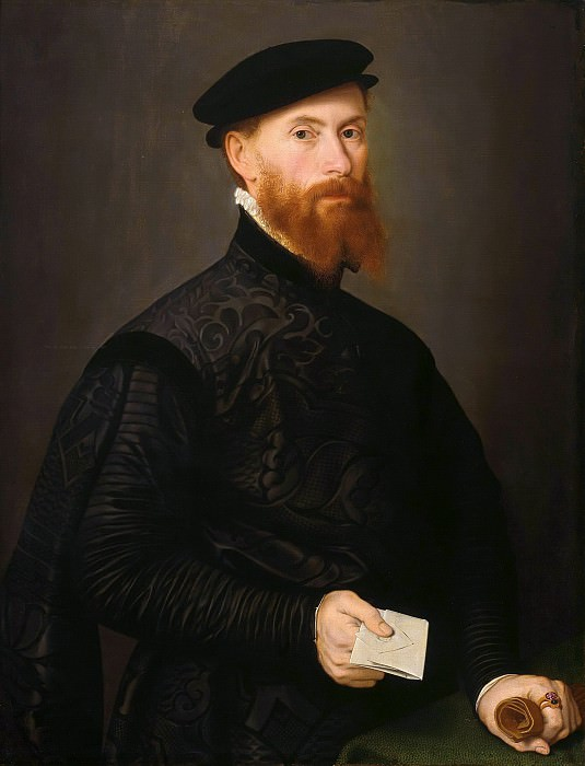 Nicolas Neufchatel (c.1527-c.1590) - Portrait of a man. Part 4