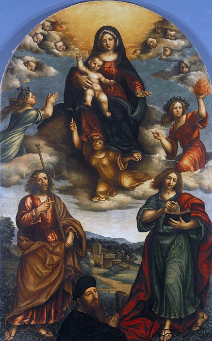 Niccolo Giolfino (1476-1555) - Maria with the child. Part 4