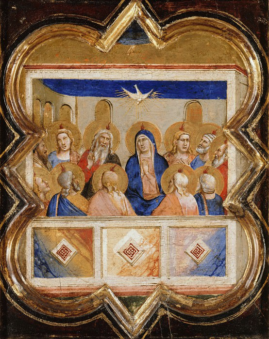 Taddeo Gaddi (1300-1366) - The outpouring of the Holy Spirit. Part 4