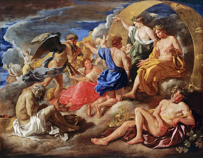 Helios and Phaeton with Saturn and the Four Seasons. Nicolas Poussin