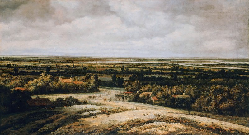 Philips Konink (1619-1688) - Dutch flat landscape. Part 4