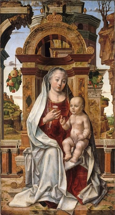Pedro Berruguete (c.1450-1504) - Maria with the child. Part 4
