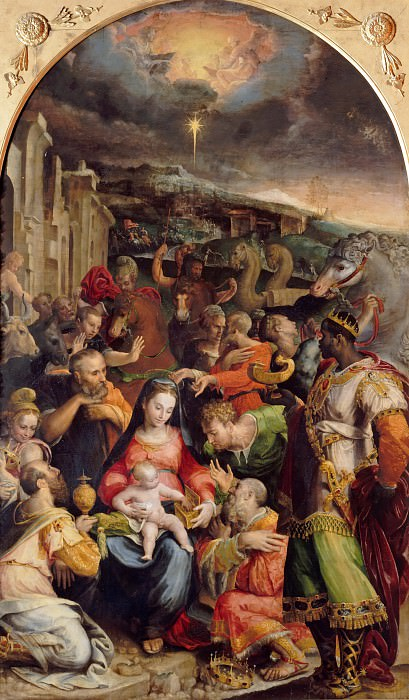 Prospero Fontana (1512-1597) - The Adoration of the Magi. Part 4