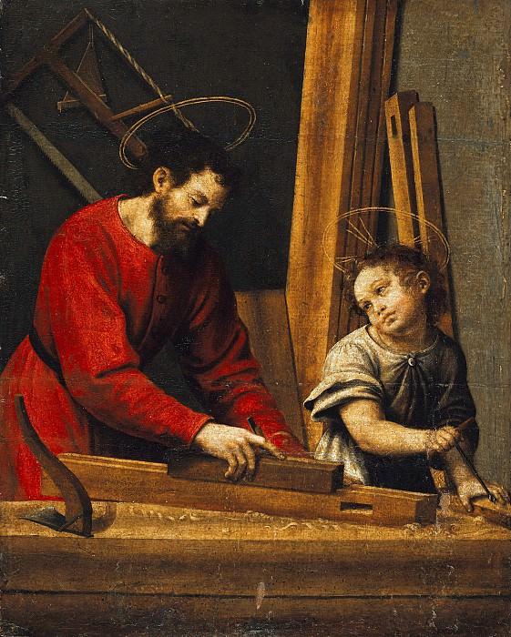 Хуанес, Хуан де (ок1500-1579) - Иосиф и Иисус в плотницкой мастерской. Часть 4