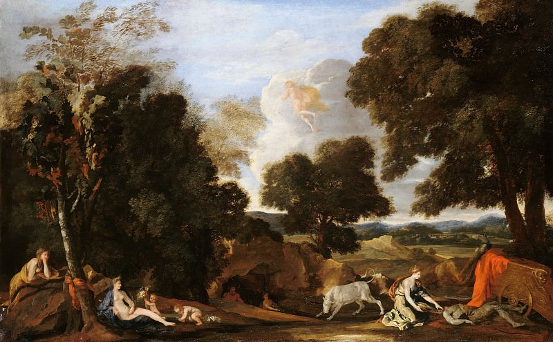 Nicolas Poussin (1594-1665) - Landscape with Juno and the slain Argus. Part 4