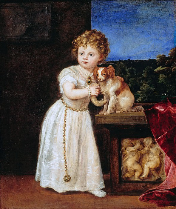 Tizian (1488-90-1576) - Clarissa Strozzi at age 2 years. Part 4