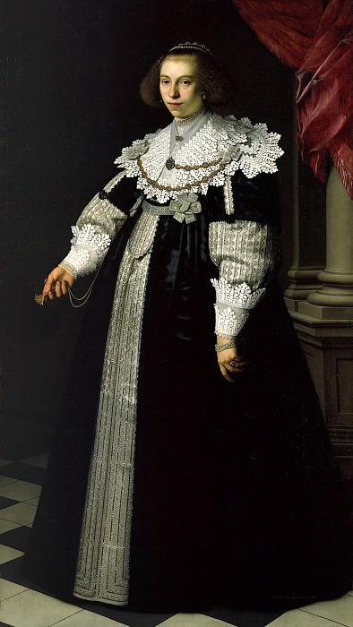 Nicolaes Eliasz Pickenoy (1588-c.1655) - Portrait of Catharina Hooft. Part 4