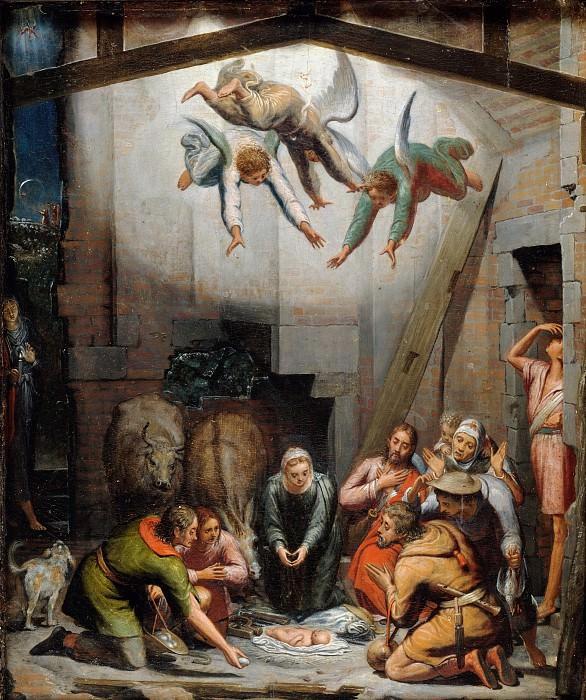 Peter de Kempeneer (1503-1580) - The Adoration of the Shepherds. Part 4