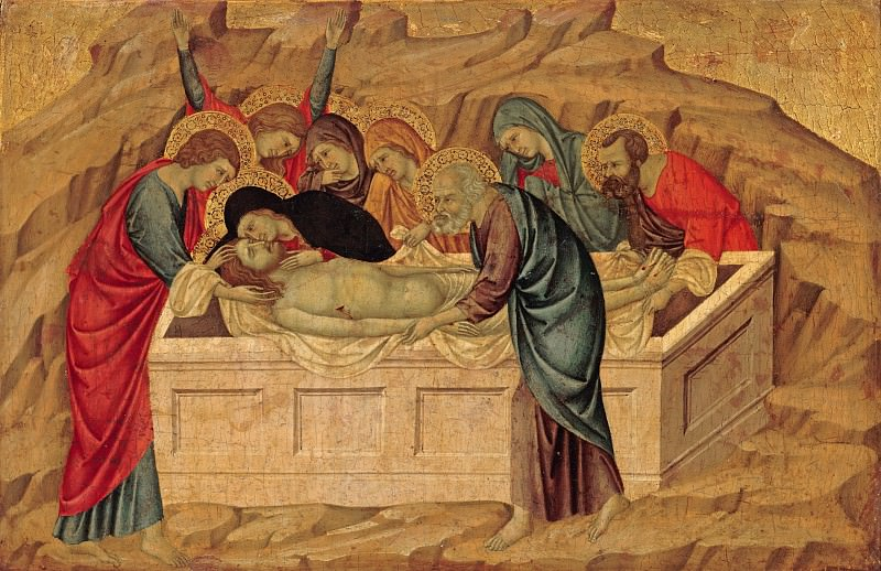 Ugolino di Nerio - The Entombment of Christ. Part 4