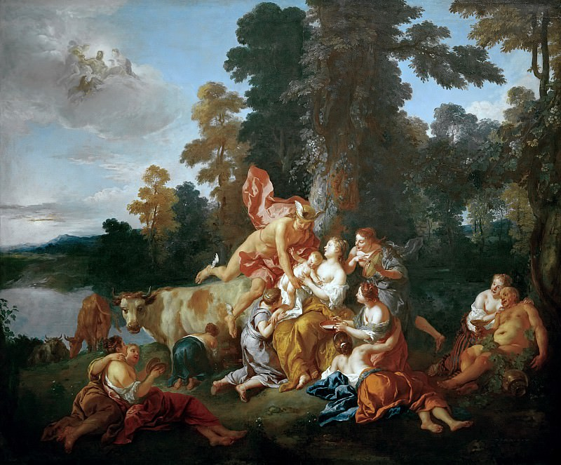 Troy, Jean-Francois de (1679–1752) - The Education of Bacchus. Part 4
