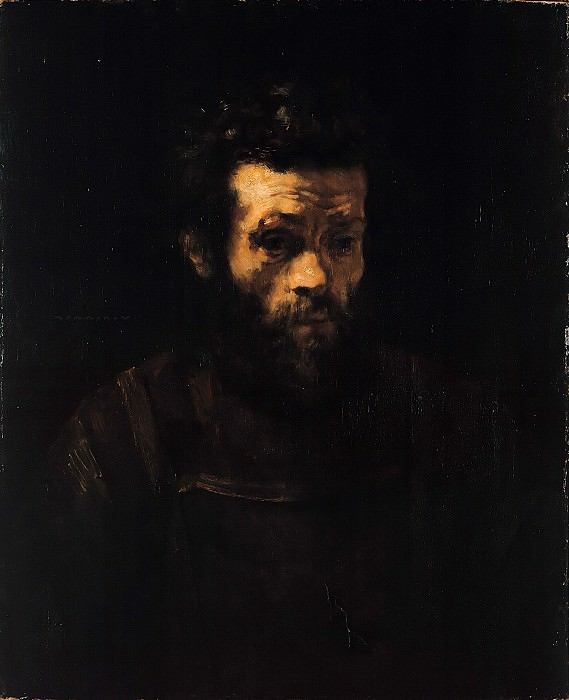 Rembrandt (circle) - An elderly man. Part 4