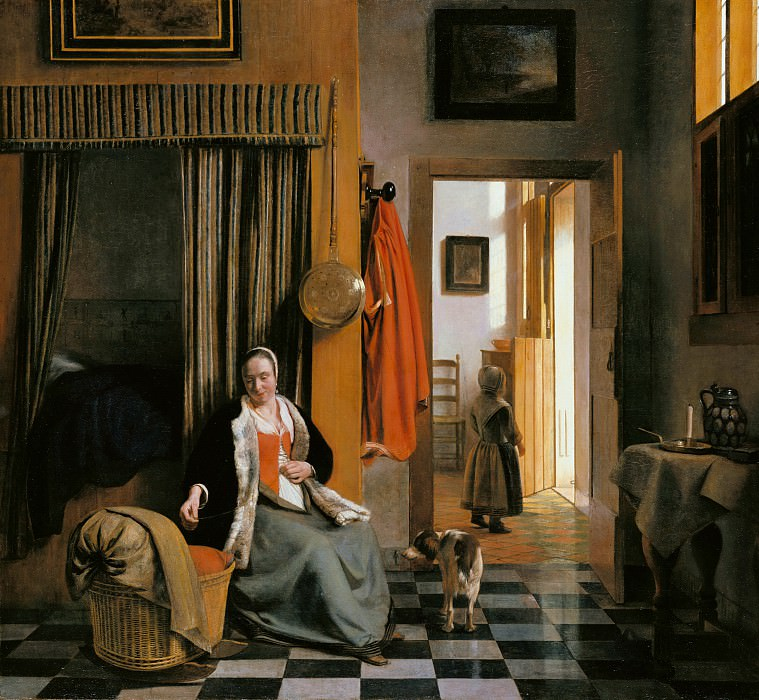 Pieter de Hooch (1629-1684) - The mother. Part 4