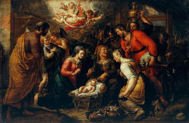 Pieter van Lint (1609-1690) - The Adoration of the Shepherds. Part 4