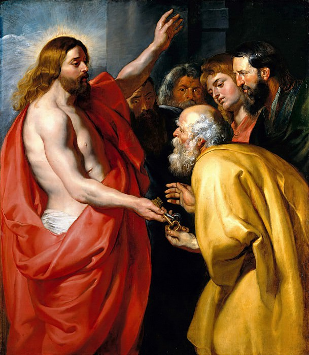 Peter Paul Rubens (1577-1640) - Christ Giving to St. Peter the keys of heaven. Part 4