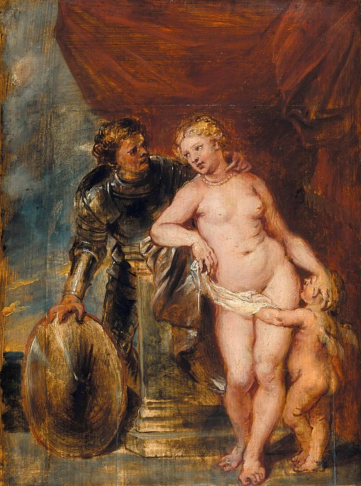 Peter Paul Rubens (Attr.) (1577-1640) - Mars, Venus and Cupid. Part 4