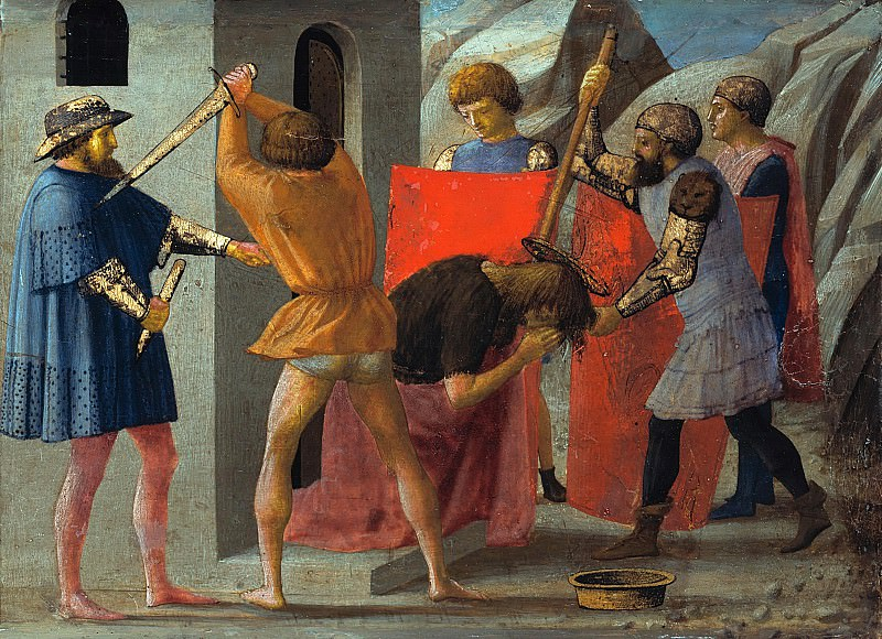 Tommaso Masaccio (1401-1428) - Predella panel from the Pisa Altar - Beheading of St John the Baptist. Part 4