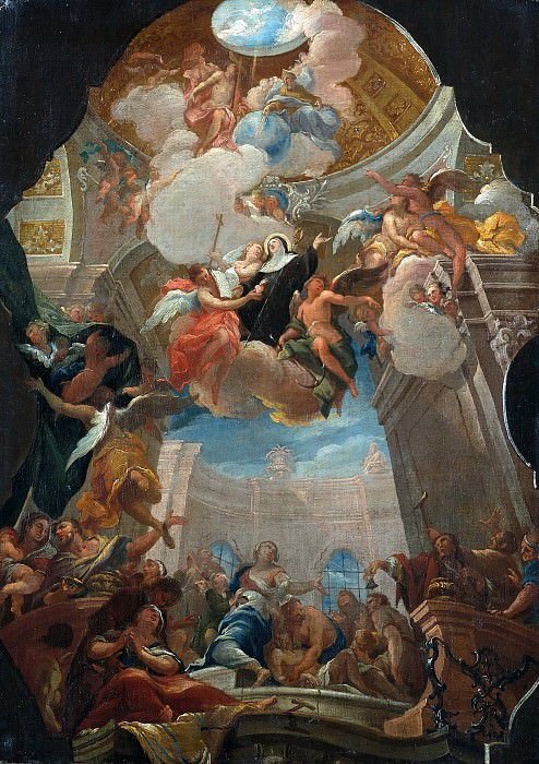 Otto Gebhardt (c.1700-1773) - The Apotheosis of St. Ottilie. Part 4