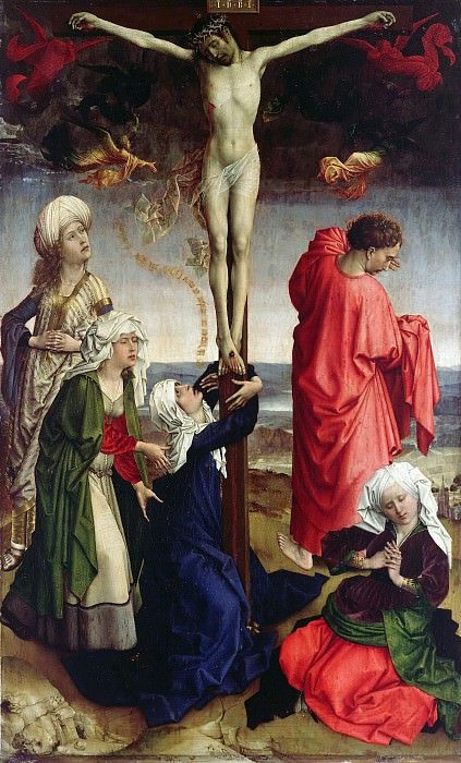 Rogier van der Weyden (workshop) - Crucifix. Part 4