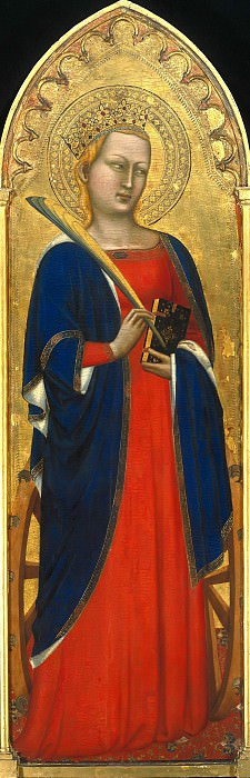 Puccio di Simone (1320-1360) - The St. Catherine of Alexandria. Part 4