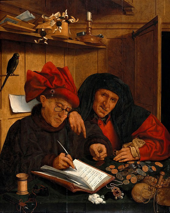 Quentin Massys (1466-1530) - The two tax collectors. Part 4