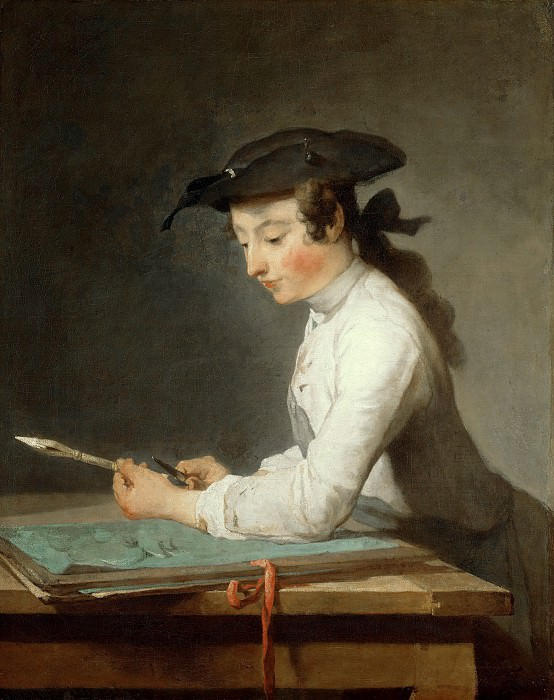 Jean-Baptiste Simeon Chardin (1699-1779) - Young draftsman. Part 4