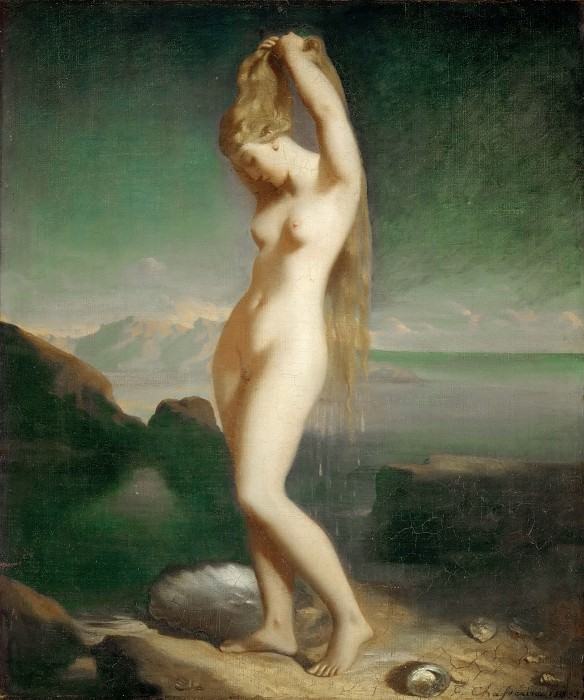 Théodore Chassériau -- Venus Anadyomene (called Venus Marine). Part 4 Louvre