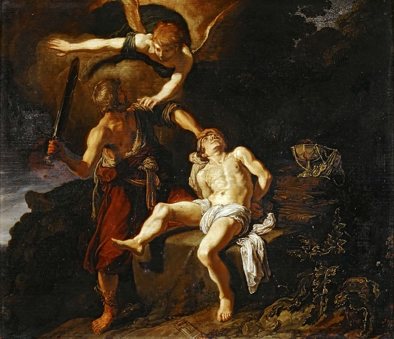 Pieter Lastman (1583-1633) -- Sacrifice of Isaac. Part 4 Louvre