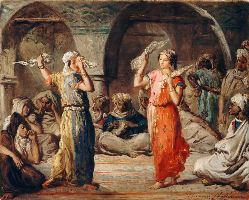 Théodore Chassériau -- Moorish Dancers: Dance of the Handkerchiefs (M'bita). Part 4 Louvre