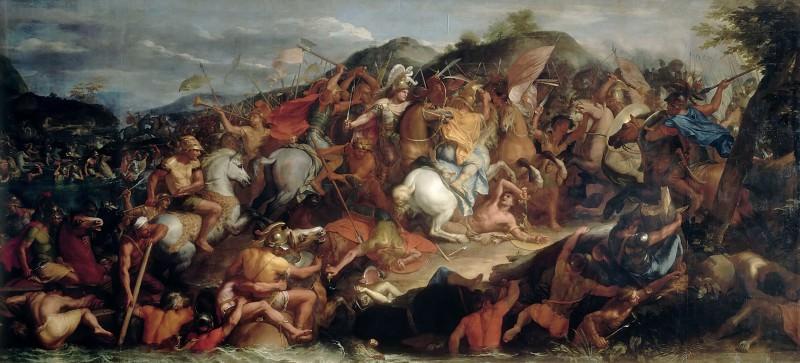 Charles Le Brun -- Crossing the Granicus (Passage du Granique). Part 4 Louvre