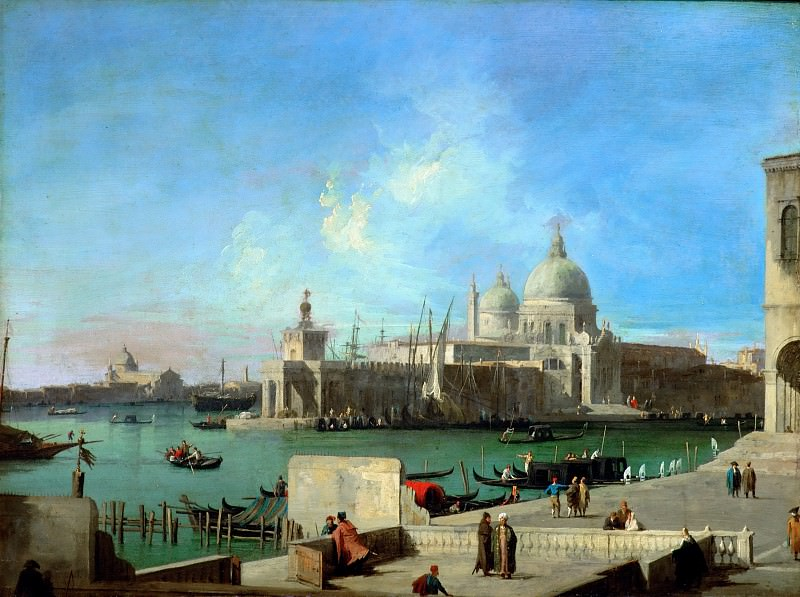 Canaletto (1697-1768) -- View of Santa Maria della Salute from the Entry of the Grand Canal. Part 4 Louvre