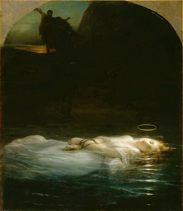 Деларош, Поль (Париж 1797-1859) -- Молодая христианская мученица. часть 4 Лувр