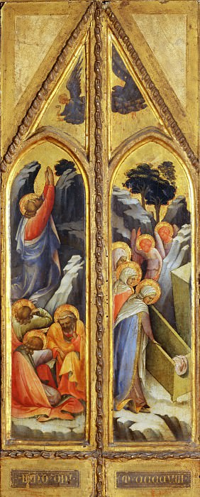 Lorenzo Monaco -- Christ in the Garden of Gethsemane; Holy Women at the Tomb; Angels. Part 4 Louvre