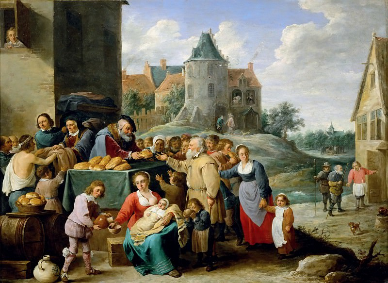 David Teniers II -- The Works of Mercy. Part 4 Louvre