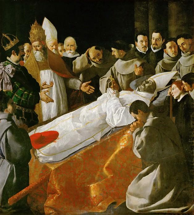 Francisco de Zurbarán -- Viewing of the Body of Saint Bonaventure. Part 4 Louvre
