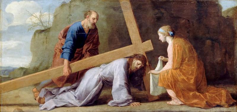 Eustache Le Sueur -- Jesus carrying His Cross. Part 4 Louvre