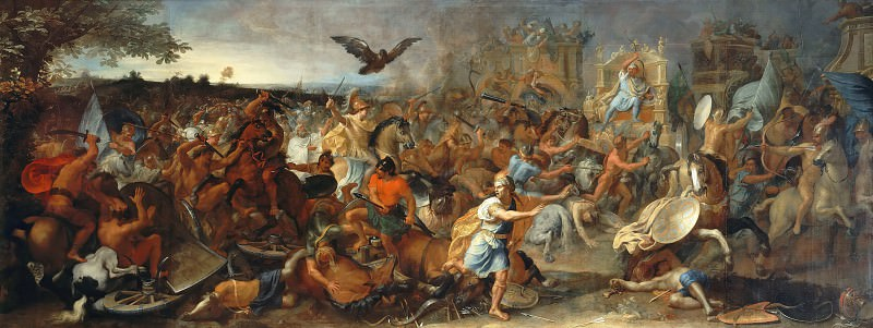 Charles Le Brun -- Battle of Arbella. Part 4 Louvre