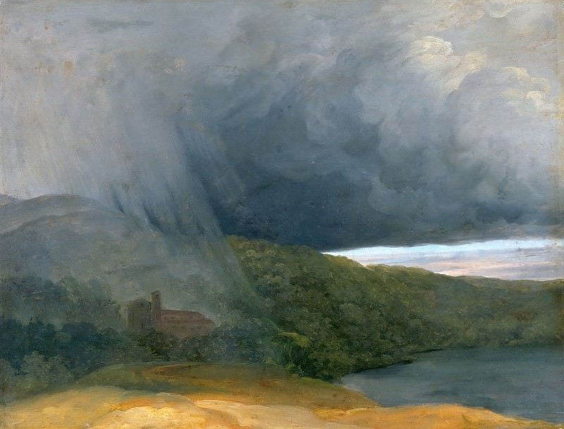 Pierre Henri de Valenciennes -- Thunderstorm over the Lakeshore. Part 4 Louvre