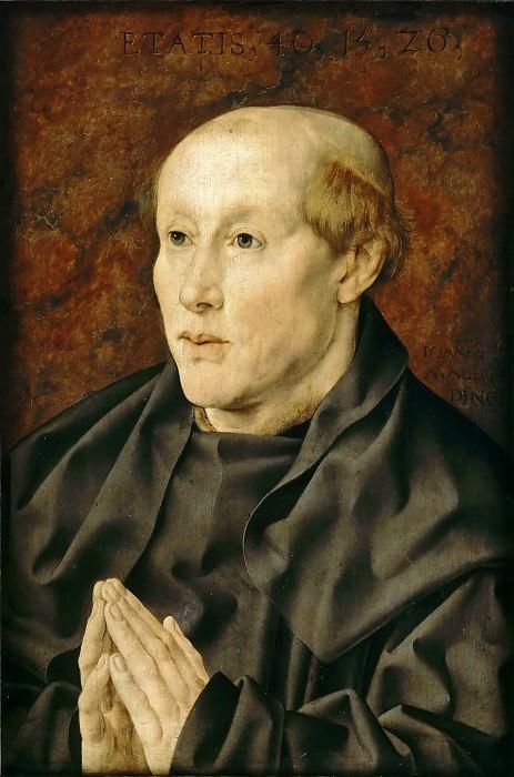 Jan Gossaert -- Portrait of a Benedictine Monk (Portrait of a 40-Year-Old Monk). Part 4 Louvre