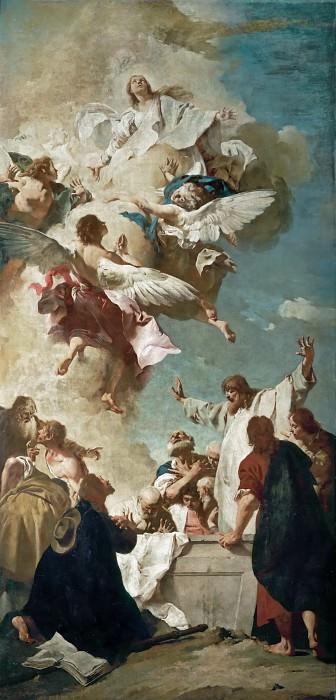 Giovanni Battista Piazzetta (1682-1754) -- Assumption of the Virgin. Part 4 Louvre