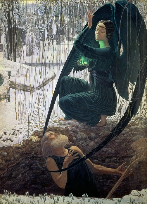 Швабе, Карлос (1866-1926) -- Могильщик и Смерть. Part 4 Louvre