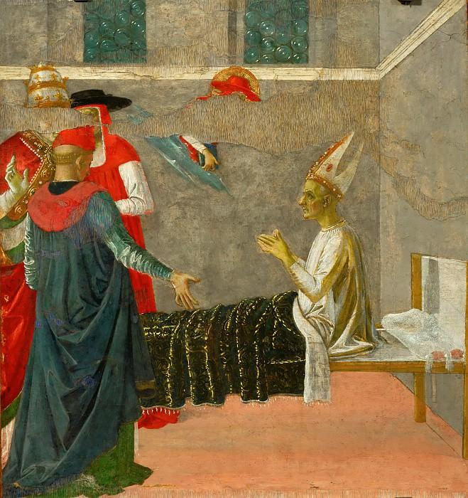 Perugino (c. 1450-1523) -- Saint Jerome Resuscitating Cardinal Andrea. Part 4 Louvre