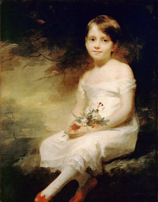 Henry Raeburn (1756-1823) -- Innocence, Portrait of Nancy Graham. Part 4 Louvre
