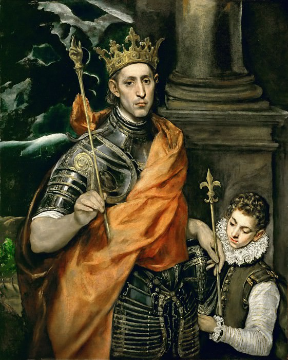 El Greco -- Saint Louis, King of France, and a Pageboy. Part 4 Louvre