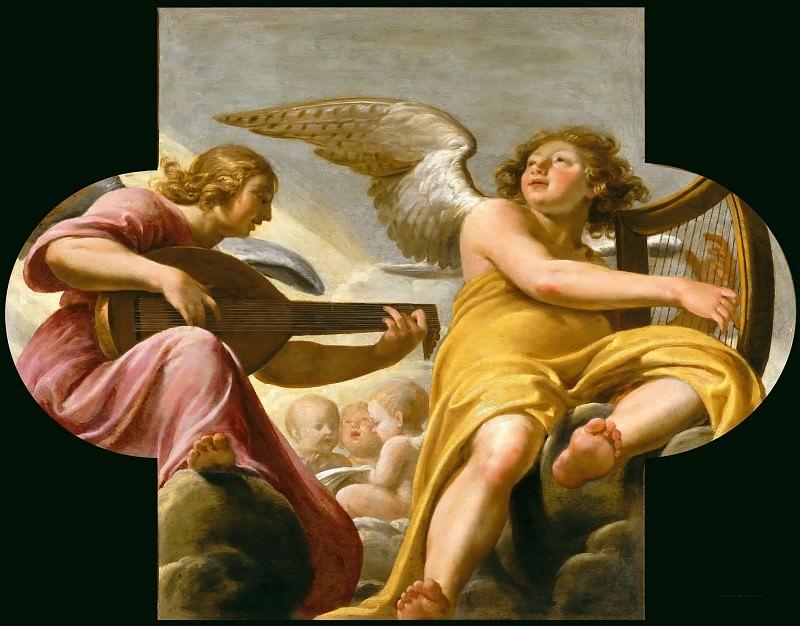 Шампень, Филипп де (1602 Брюссель - 1674 Париж) -- Два музыцирующих ангела. часть 4 Лувр